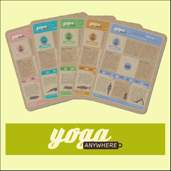 YogaAnywhere Cards, Poster and a Book