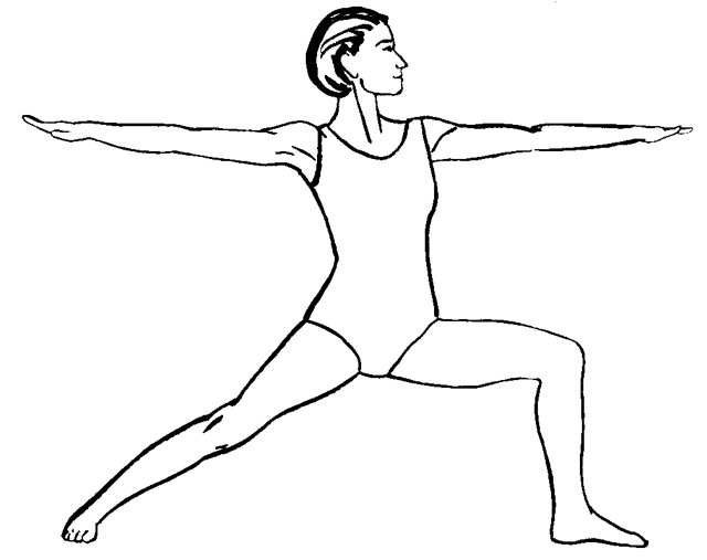Line Drawing Yoga Pose : Yoga for back care no suits her